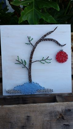 Items similar to Charlie Brown Christmas Tree String Art on Etsy Charlie Brown Tree, Charlie Brown Christmas Tree, Christmas Deer, Christmas Nails, Christmas Crafts, Xmas, Nail String Art, String Crafts, Nail Art