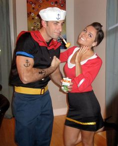 25 Genius DIY Couples Costumes via Brit + Co. and we went as opposites ;) Hint for me for next year ;)