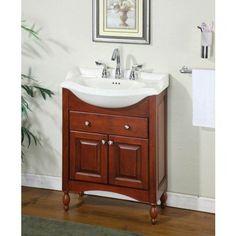 Empire Industries KC Kensington Narrow Depth Vanity In Cinnamon - Narrow depth bathroom vanity sale