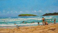 oleo de la playa de Somo