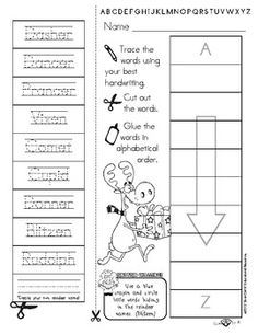 christmas worksheet alphabetical order christmas pinterest christmas worksheets. Black Bedroom Furniture Sets. Home Design Ideas