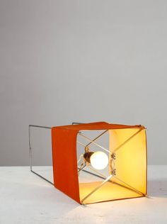 George Nelson Red Kite Table or Floor Lamp, USA, 1970s 4