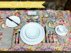 Pop of floral with white table setting White Table Settings, List Of Courses, Sparkling Drinks, Dessert Spoons, Making Life Easier, Menu Cards, Do It Right, Home And Family, Place Cards