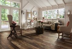 Love this new reclaimed wood flooring by Armstrong. I can't believe it's laminate!!!! Armstrong Architectural Remnants.