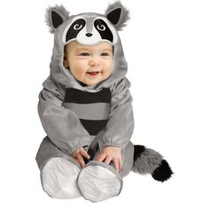 Baby Racoon Costume - Baby, Infant Unisex, Size: 6-12MONTHS, Multicolor