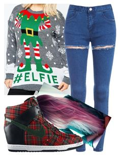 """""""Untitled #6993"""" by carmellahowyoudoin ❤ liked on Polyvore featuring Club L, NIKE and plus size clothing"""