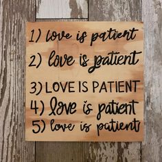 Wedding Aisle Signs, 1 Corinthians 13 Wedding Signs, Love is Patient, Love is Kind, Hand Painted Wood Wedding Signage Wood Wedding Signs, Wedding Welcome Signs, Wedding Signage, Love Does Not Boast, Love Does Not Envy, Bridal Shower Signs, Baby Shower Signs, Wedding In The Woods, Our Wedding