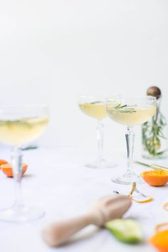clementine + rosemary + prosecco.