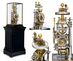 highly complicated astronomical skeleton clock with orrery, 1939. You can zoom in on the website to see the wonderful details on this one!