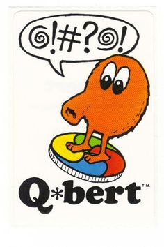 Vintage 1983 Arcade Q bert sticker mod 80's by CollectorsWarehouse, $4.29