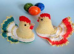 Ostern Hühner häkeln - mit eigenen Händen...