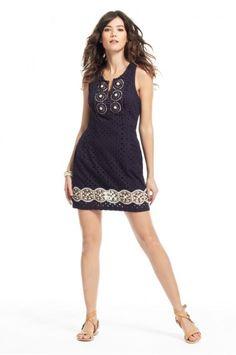 Cindra Eyelet Cotton Dress