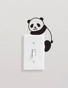 Add style to simple switch plates with our Panda Wall Decal Set! This set includes five different pandas, but all are equally adorable. [ Size ] Set Size (approx): x [ Whats Included ] 5 Pandas All artwork is original. Simple Wall Paintings, Creative Wall Painting, Wall Painting Decor, Diy Wall Art, Wall Decor, Vinyl Wall Decals, Wall Stickers, Wall Drawing, Paint Designs