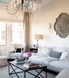 Love the pillows and that couch is to die for #livingroombeauty #homedecor www.woodardrealtyteam.com