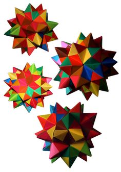 Origami Maniacs: Origami Spiked Pentakis Dodecahedron By Tomoko Fuse