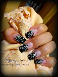 Tattoo Nail Art How To #howto #tutorial
