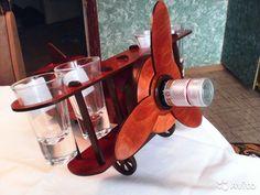 """Подставка для бутылки - """"Мини бар Самолет""""— фотография №1"""