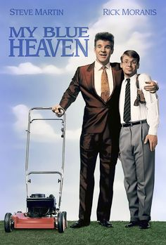 """The stars of Parenthood in comedy about an urban hood finding suburbanhood."" My Blue Heaven (1990) #movieshumansshouldwatch #movies"