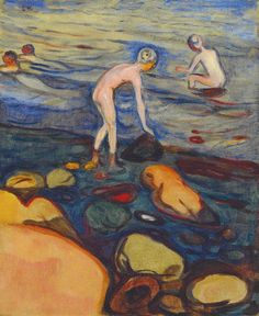 Edvard Munch   1897-99 Bathing Boys  oil on canvas 71 x 58 cm Private Collection