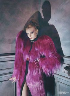 Fur-Flaunting Fashiontography: Animalistic Outfits for 'Wild' in Marie Claire Italy