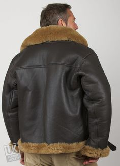 a75d20dabcb Superior quality men s sheepskin flying jacket based on the much coveted  WWII Royal Air Force pilot jacket design. Made in England