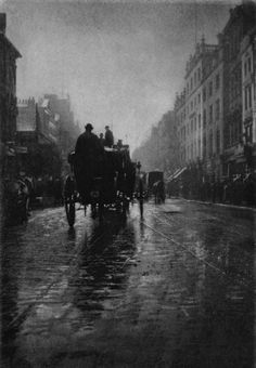 "Oxford Street, London, 1897  ""A Wet Day"" by George Davison"