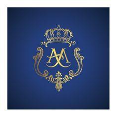 #Wedding #monogram with #crown