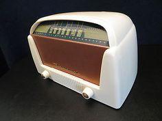 Antiguo Vintage 1940s casi nuevo Bendix de mediados de siglo Radio De Baquelita Antiguo Art Deco