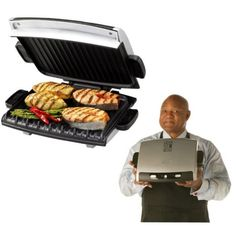 Cooking times on George Foreman grill. Your George Foreman Grill cooks food quickly. This is due to the fact that the electric grill is designed to cook from both the top and the bottom at once after you've closed the lid over your food. But just how qui George Foreman Grill, George Foreman Recipes, Cooking On The Grill, Cooking Time, Bolo Do Superman, Grilling Recipes, Cooking Recipes, Cooking Ideas, Burger Recipes
