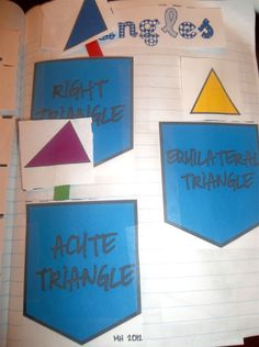 Pockets for sorting different types of triangles-Part of an interactive notebooking project (Geometry unit) $