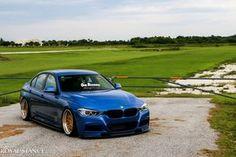 BMW F30 3 series blue deep dish