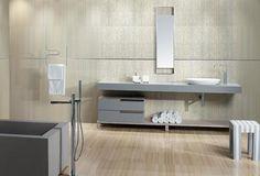Fabrics Collection - FB 02 Lines Beige | #Architecture  #Design #Ceramics #Tiles #Ecology #Beige #Bathroom #Floor #Modern