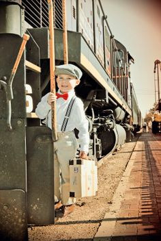 6th Vintage Train Birthday Party details@thegirlwithpanache.blogspot.com