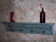 Coat Rack with Shelf Painted Wood Shelf with Coat by IADECOR