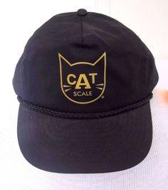 Vintage Black, Yellow CAT Scale Mesh Trucker's Cap, Snapback Hat, Nissun #Nissun #CAT