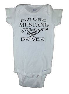 Baby Mustang Onesie Future Mustang Driver Childs by SlapStickVinyl