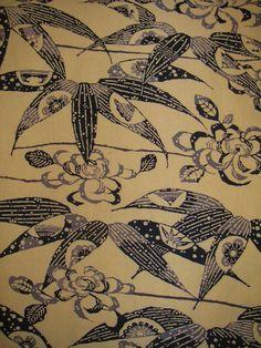 Gorgeous Vintage Silk Katazome Japanese Silk by WandererTextiles