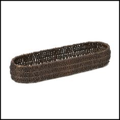 """Our Woven Abaca French Bread Tray is perfect for all serving and entertaining needs. The tray is durable enough for everyday use, yet fashionable for entertaining at parties. Abaca is 100% environmentally friendly.   Handcrafted in the Philippines  Size: 18"""" x 5"""" x 2 1/2"""""""