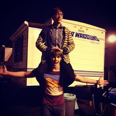 Hazing the new kid...but I think he enjoyed it. @blake_jenner - http://instagram.com/p/S7XFasyJ_L/