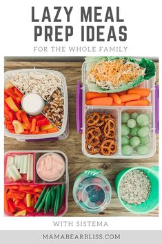 Make easy meal prep a breeze for the whole family with these Sistema® containers. They have locking lids easy to take on the go for prepping lunches. Lunch Meal Prep, Easy Meal Prep, Easy Meals, Sistema Containers, Main Food Groups, Dinner Party Menu, Toddler Lunches, Healthy Recipes, Sweets Recipes