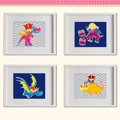 Dragons Warriors Nursery Art Print  Vikings by MadeForYouPrints, $42.95