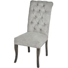 Silver Roll Top Dining Chair With Ring Pull