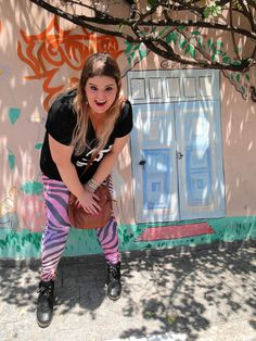 Colorful zebra leggings and T-shirt :)