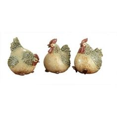 Fat Chicken Ceramic Figurines