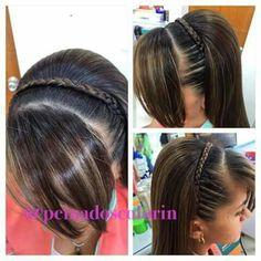 Peinado niña Princess Hairstyles, Girl Hairstyles, Little Brown, Hairstyles For School, Little Princess, Brown Hair, Hair Inspiration, My Hair, Hair Care