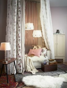 Romantic refreshers for your living room -  EMMIE ROS fabric by-the-yard.