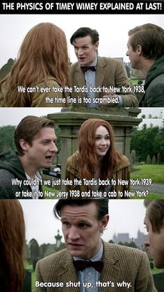 The physics of Timey Wimey explained at last!