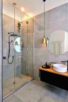 Small And Modern Bathroom Design. Get inspired by this modern bathroom design ideas. Latest trend modern bathroom design, black, simple and wooden modern bathroom. Modern Bathroom Lighting, Modern Bathroom Design, Bathroom Interior Design, Bathroom Designs, Modern Lighting, Contemporary Bathrooms, Modern Bathroom Mirrors, Mirror Bathroom, Interior Livingroom