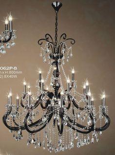 Elite Bohemia Kristall Deckenkronleuchter mit 3 Leuchten Silber Finish Böhmisches Kristall