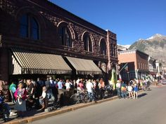 Audience arrives for The Last Ocean screening at Mountainfilm in Telluride.